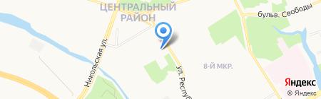 ONSEN на карте Сургута