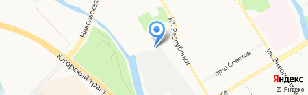 Авант на карте Сургута