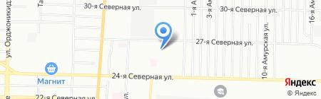 Бригадир на карте Омска