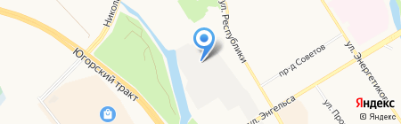 Колор-Тех на карте Сургута
