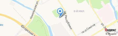 Консалко М на карте Сургута
