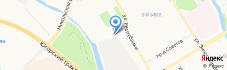 Жигули на карте Сургута