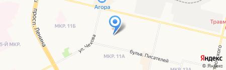 Продовольственный минимаркет на карте Сургута