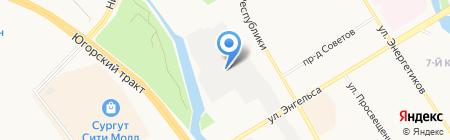 Авто-выхлоп на карте Сургута