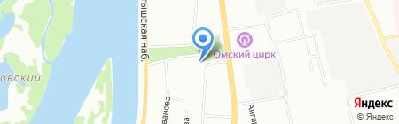 Коммед на карте Омска