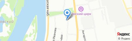 Каталея на карте Омска