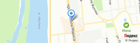 Элин на карте Омска