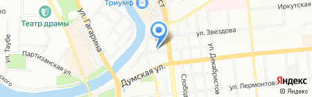 АВИАТОР на карте Омска