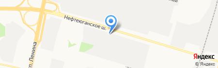 Сургутский на карте Сургута