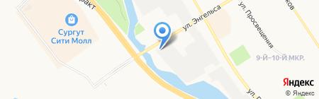 СТО на ул. Гагарина 10Б на карте Сургута
