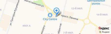 Часики на карте Сургута