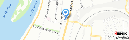 Зоотовары на карте Омска