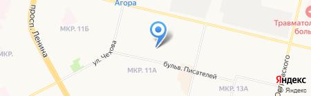 Весна на карте Сургута