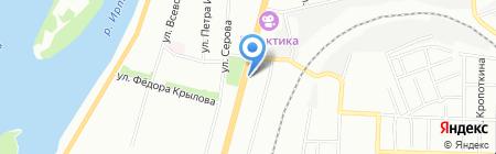 Магазин цветов на карте Омска
