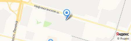 ТЭСЛ на карте Сургута