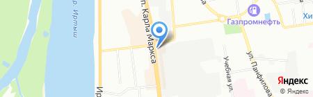 Ледяной Потолок на карте Омска