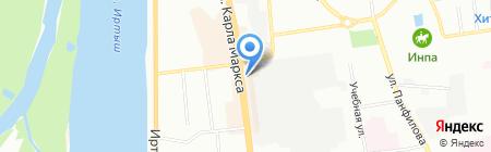 Окна-Мира на карте Омска