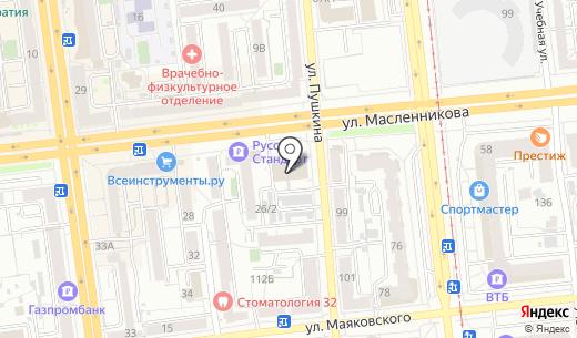 Рив Гош. Схема проезда в Омске
