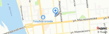 Омское лекарство на карте Омска