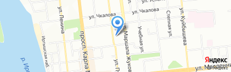 Банный Двор на карте Омска
