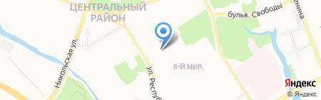 Детский сад №25 на карте Сургута