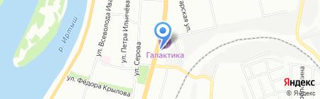 Вокруг света на карте Омска