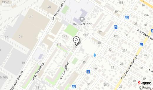 На Гусарова. Схема проезда в Омске