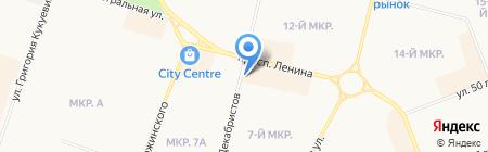Ростер на карте Сургута
