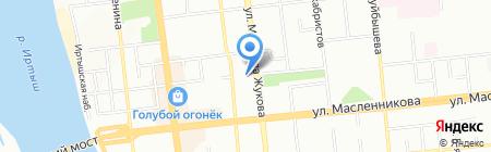 Юником-Восток на карте Омска