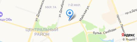 Брюнетка на карте Сургута