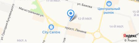 На Бахилова на карте Сургута
