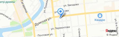 Банкомат КБ ЮНИАСТРУМ БАНК на карте Омска