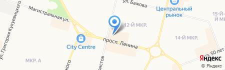 Магазин головных уборов и купальников на карте Сургута