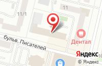 Схема проезда до компании Деловой Сургут в Сургуте