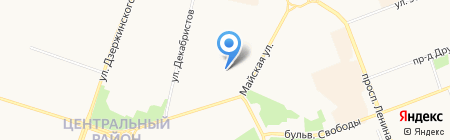 Меридиан на карте Сургута