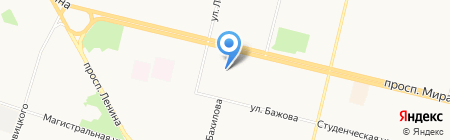 Лиман на карте Сургута