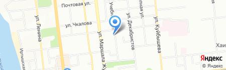 Лазерком на карте Омска
