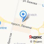 Центральная на карте Сургута