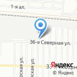 Отрада на карте Омска
