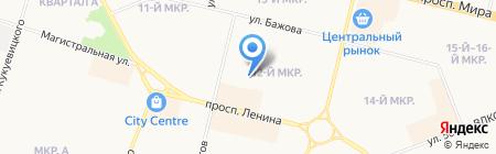Кеша на карте Сургута