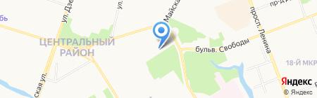 Модерн-тур на карте Сургута