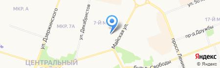 Продовольственный магазин на Майской на карте Сургута