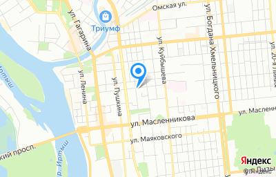 Местоположение на карте пункта техосмотра по адресу г Омск, ул Красных Зорь, д 20