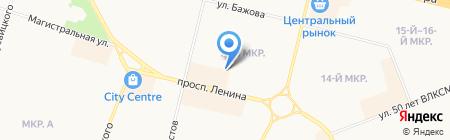 Легенда на карте Сургута