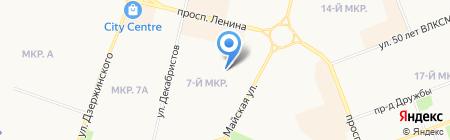 Майское на карте Сургута