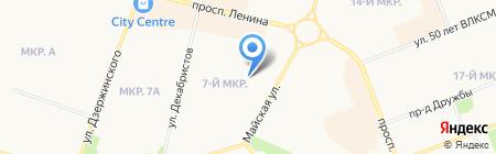 Берлога на карте Сургута
