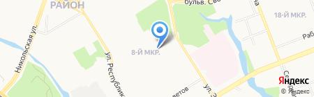 Средняя общеобразовательная школа №8 им. А.Н. Сибирцева на карте Сургута