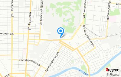Местоположение на карте пункта техосмотра по адресу г Омск, ул 5-я Северная, д 201