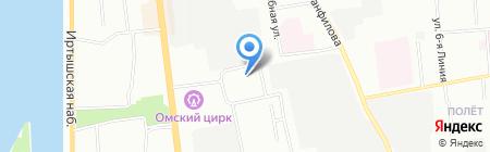 Гаврош на карте Омска