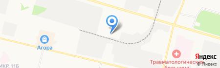 Ермак на карте Сургута